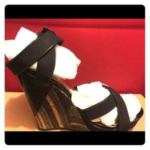 Wedged heel sandals