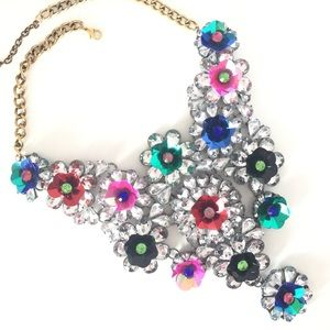 "NEW ""Don't Be Shy"" Florette Statement Bib Necklace"