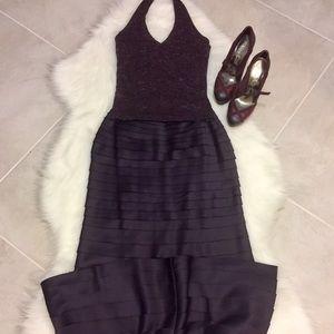 Tadashi Shoji Dresses & Skirts - Formal Plum Maxi Skirt & Halter Top Set, size 4