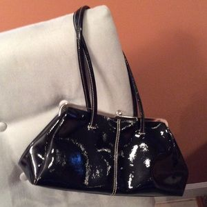 Nine West Black patent leather handbag
