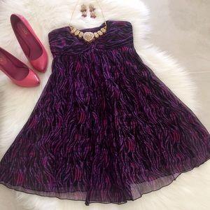 Express Dresses & Skirts - Silk Sweetheart Dress - purple & pink, size 0