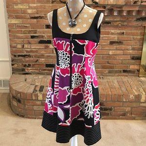 Nine West Dresses & Skirts - Nine West fit & flare purple/pink w/black trim