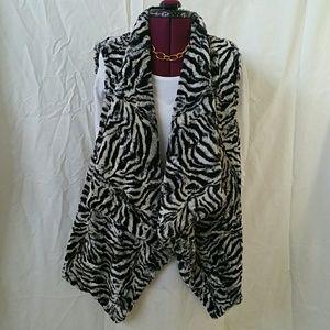 Michael Kors Faux Rabbit Fur Vest