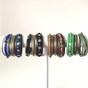 NEW Set of 6 Boho Bangles