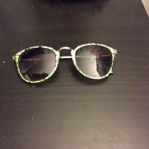 Funky green and gold sunglasses