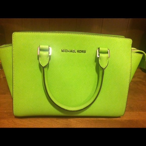 c876dcecd18d Lime green Michael Kors Selma Medium Satchel. M_569d6f7aafcd0e8866060c95