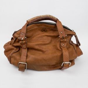 True Religion Brown Leather Bag