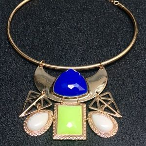 Unique boho bib statement necklace