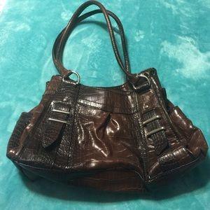 Brown hand bag - all man made materials