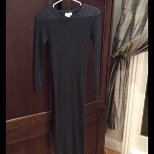 NWOT Carmen Marc Valvo Smoke Grey Sweater Dress