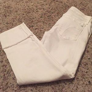 Joe's Jean's raw edge kicker cropped jeans