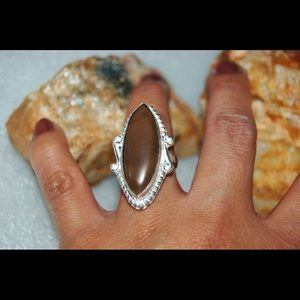 handmade & handcrafted gemstone jewelry Jewelry - Brown Bolder Jasper Ring Size 7
