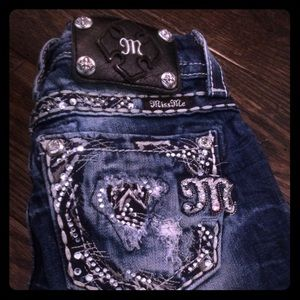 SIZE 22 cropped miss me jeans