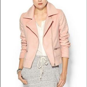 Piperlime Jackets & Blazers - Piperlime Collection Blush Short Moto Jacket