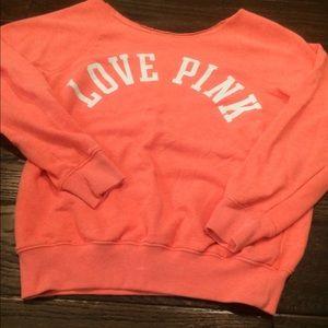 vs pink slouchy sweatshirt