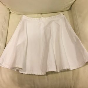 American Apparel White Denim Circle Skirt