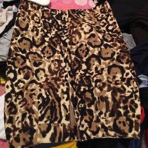 Leopard print never been worn knee length skirt
