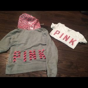 vs pink chevron bling bundle