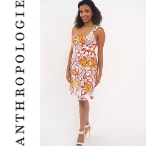 MAEVE Bold Floral Poplin Dress