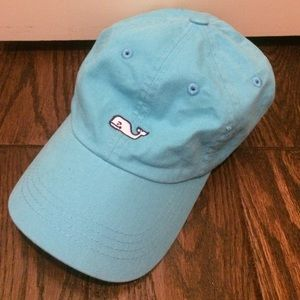 bright blue vineyard vines baseball hat