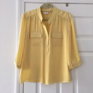 Parker Tops - Yellow silk blouse