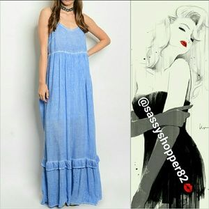Dresses & Skirts - 'GEMMA' Blue maxi dress