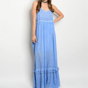 'GEMMA' BLUE MAXI DRESS