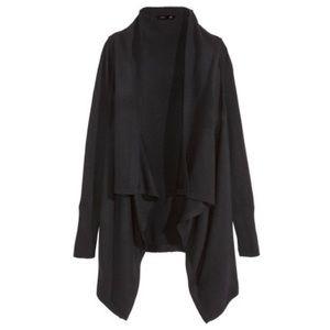 Forever 21 Sweaters - Final SaleBlack Drape Hooded Cardigan Sweater Hood