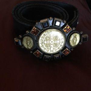 Virgins, Saints & Angel vintage belt & belt buckle