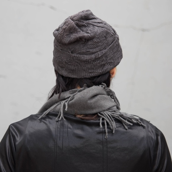 Virginblak Accessories - 🆕Charcoal Grey Beanie Hat Cap NEW Gray Soft Cozy