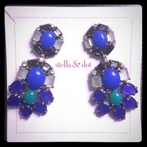 New, never worn Stella & Dot two-in-one earrings!