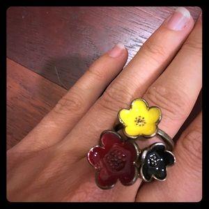 3 Flower Ring Set
