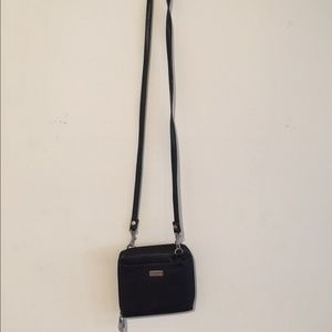 Bosca Handbags - BOSCA CROSS BODY SMALL HANDBAG LEATHER BLACK
