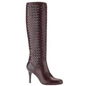 Cole Haan soft leather woven leather boot