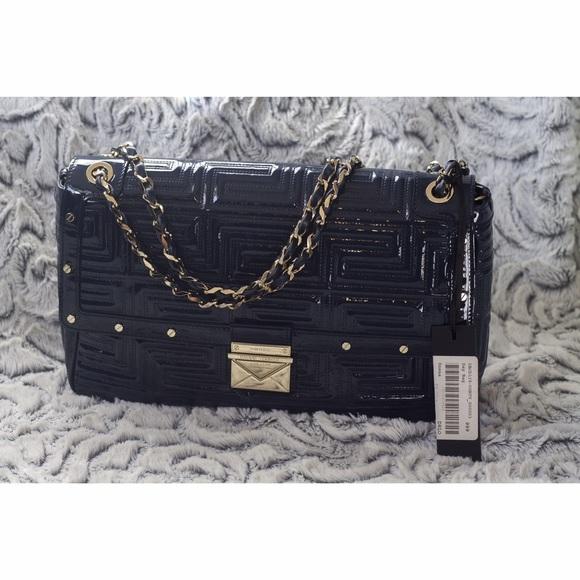 Versace Bags   Blue Flap Bag With Gold Chain Strap   Poshmark 933e2d0a6d