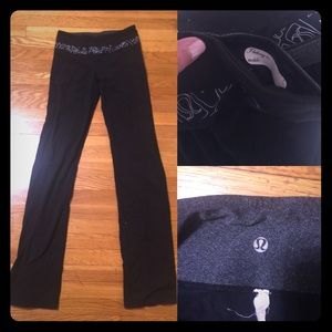 lululemon athletica Pants - Lululemon low rise flare leg gym pants