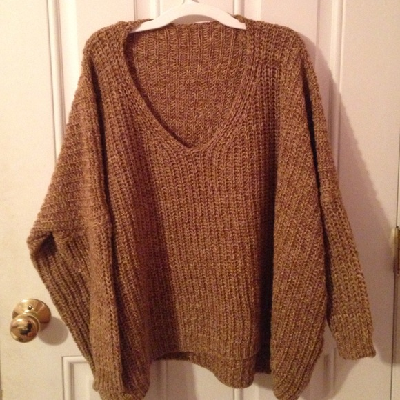 6f8e899760 Shein Sweaters - Chunky Dolman Style V-Neck Sweater