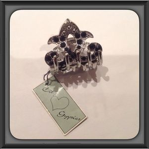 Accessories - Fleur de Lis hair clip, jewels, rhinestones