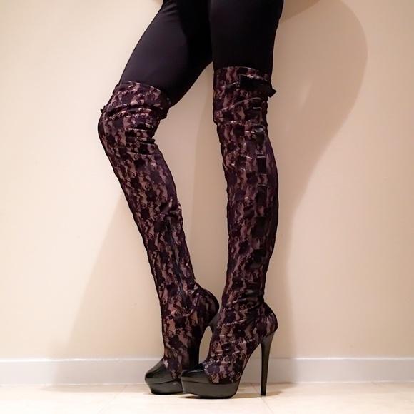 e8d0558d495 Colin Stuart Victoria s Secret Thigh High Boots. M 569de091b4188e487106bdf0