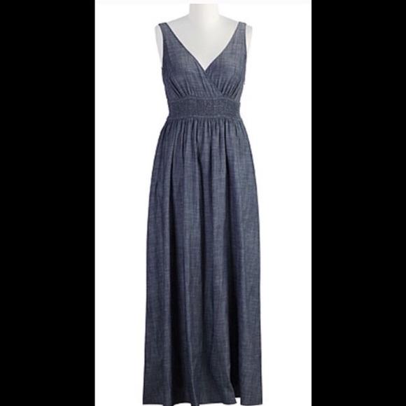 41ea48d129d New Eshakti Chambray Maxi Dress XL 18