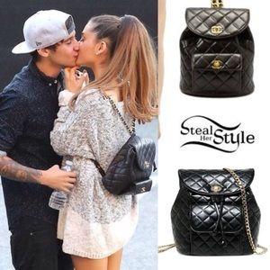 ad21b51c981 Ariana Grande Bags - Ariana Grande Leather Backpack w Gold Chain Straps