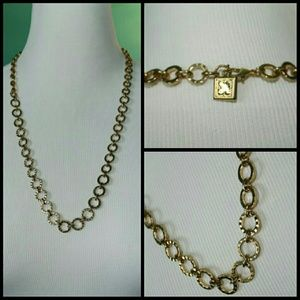 Heavy Gold Circle Chain Necklace