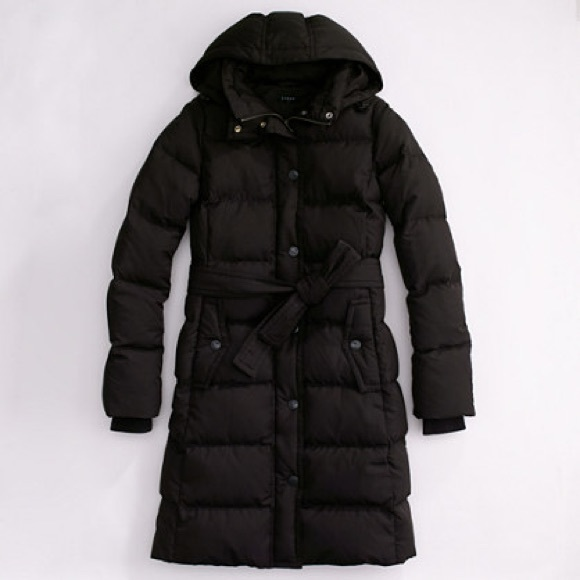225222ac2 J.Crew Factory Long Belted Puffer Coat