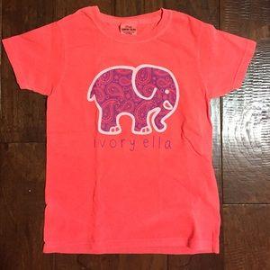 d4e0a1a5a237 Ivory Ella Tops - Ivory Ella Neon Coral Purple Paisley Short Sleeve