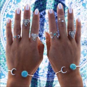 New Boho turquoise cuff bracelet.