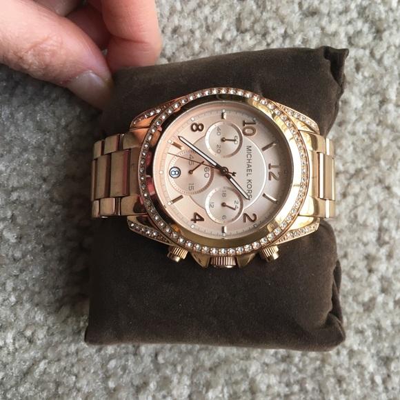 f0bf3485e480 Micheal Kors women s Blair rose gold watch. M 569e74056a58303649003531