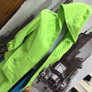 Picadilly fashion made in Canada neon green zip up