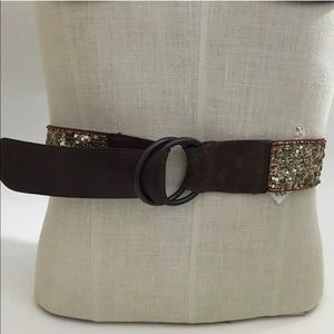 Old Navy Gold Sequin Belt Size XS