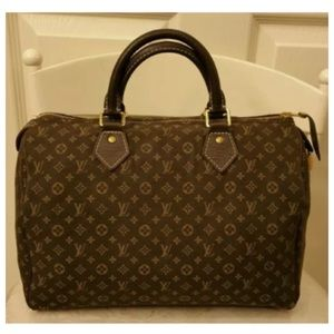 Authentic LV Speedy Mini Lin ebene limited edition
