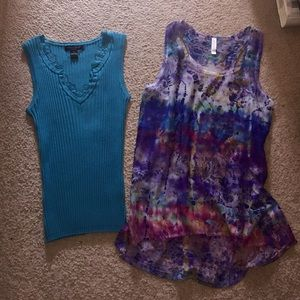 August Silk Tops - Two sleeveless tops